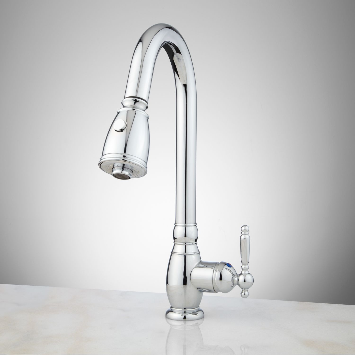 Caulfield Singlehole Pulldown Kitchen Faucet  Kitchen Faucets Delectable Single Hole Kitchen Faucet Decorating Design