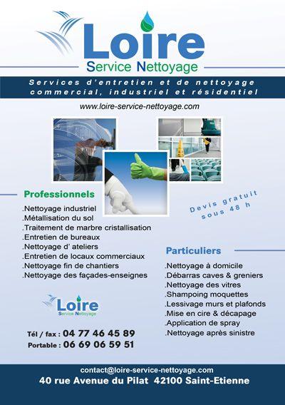 Flyer Entreprise Nettoyage De Plaquette Impression Carte Visite