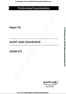 acca study material free download pdf