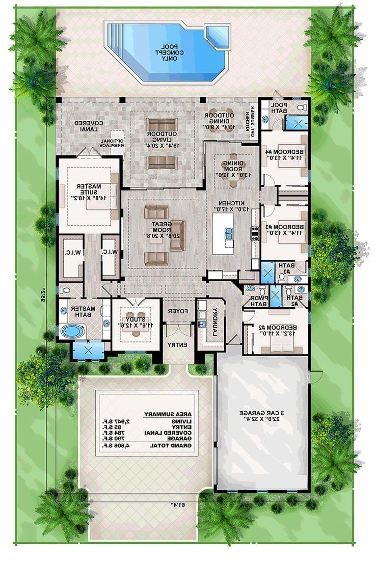 Best 25 Beach House Plans Ideas On Pinterest Lake House Plans From Beach House Plan Denah Terbuka Denah Lantai Rumah Denah Lantai