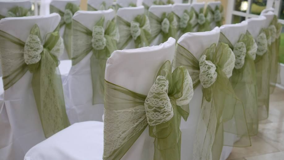 Maybe Instead Of Lace, I Use Lavender Organza With The Sage Colored Chair  Sash?