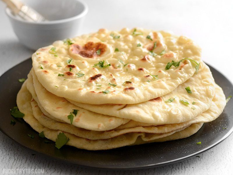 Easy Homemade Naan Recipe Step By Step Photos Budget Bytes Recipe Homemade Naan Bread Naan Recipe Recipes