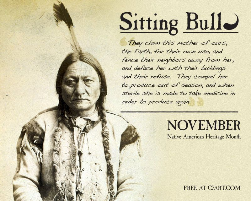Native American Chief Sitting Bull Quotes