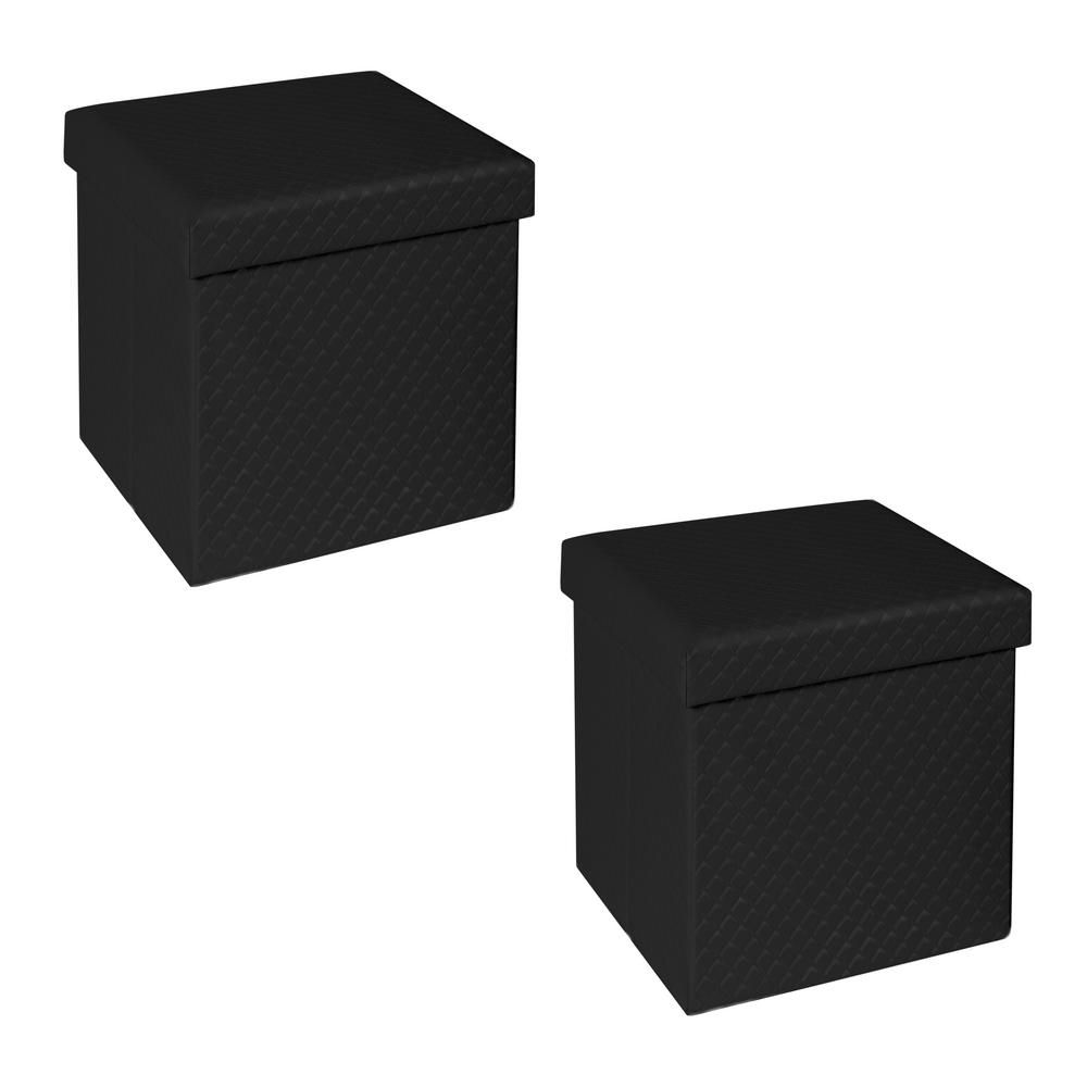 Superb Seville Classics Foldable Storage Cube Ottoman Charcoal Gmtry Best Dining Table And Chair Ideas Images Gmtryco