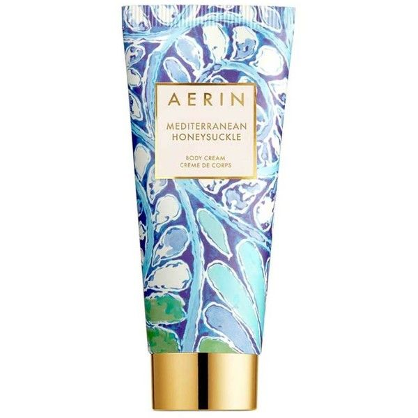 AERIN Mediterranean Honeysuckle Body Cream (€50) ❤ liked on Polyvore featuring beauty products, bath & body products, body moisturizers, beauty, fillers, makeup, body moisturiser and body moisturizer