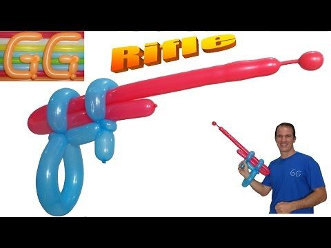 como hacer una pistola con globos largos globoflexia facil