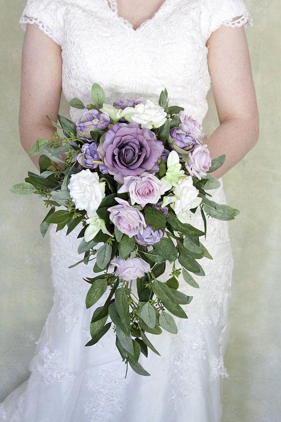Cascade Bouquet Cascading Bouquet Lavender Bridal Bouquet