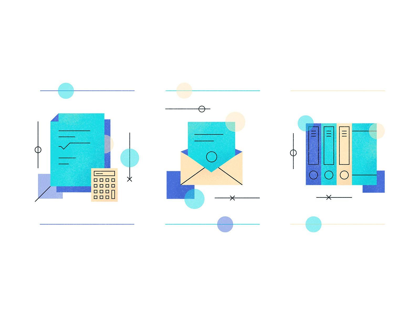Icons Typography app, Compass web, Icon design
