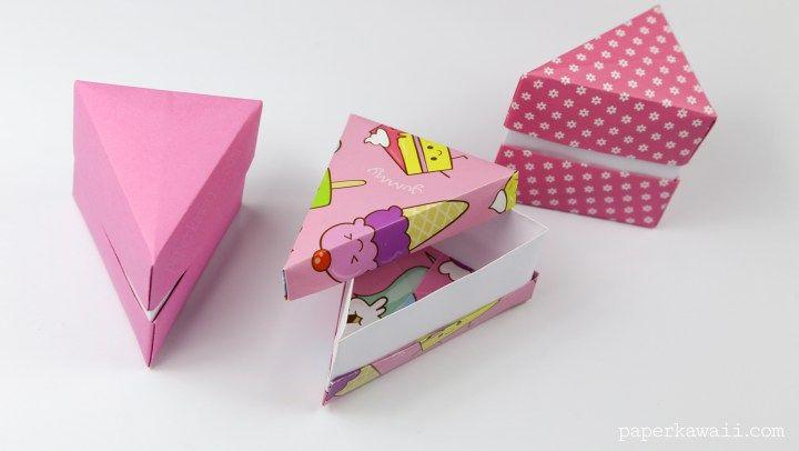 Origami Cake Slice Box Instructions Cake Slice Boxes Origami And Box