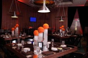 How to throw an out of this world bar or bat mitzvah catch my cool basketball centerpiece for boys party junglespirit