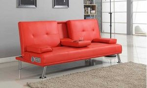 Groupon Reel Sofa Bed With Bluetooth Speakers Deal Price 139 99