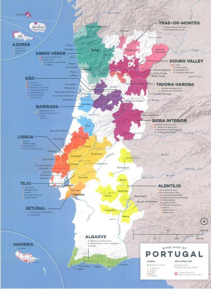 Nuevo Mapa Del Vino En Portugal Vinos De Portugal Vinos