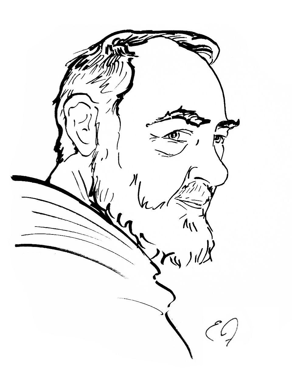 S Padre Pio Desenhos Trabalho De Arte Padre Pio De Pietrelcina