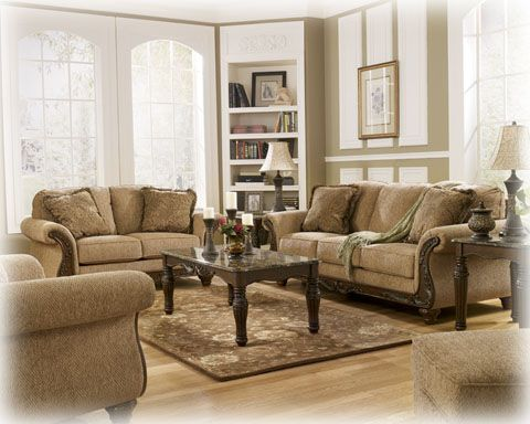 Cambridge Amber Fabric Wood Living Room Set Livingroom Pinterest