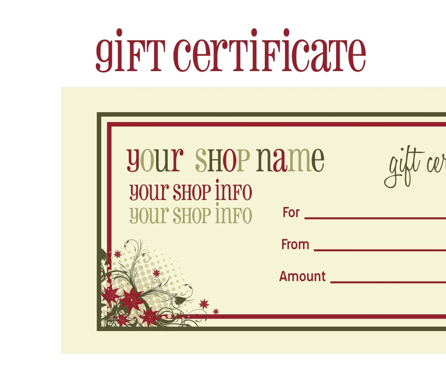 printable gift certificate template instructions Pure Romance