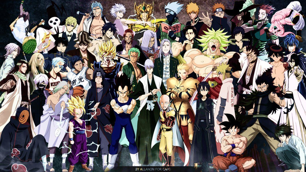 Anime Collage Wallpapers Top Free Anime Collage Backgrounds Wallpaperaccess Anime Wallpaper Anime Crossover Anime 30 x anime wallpaper