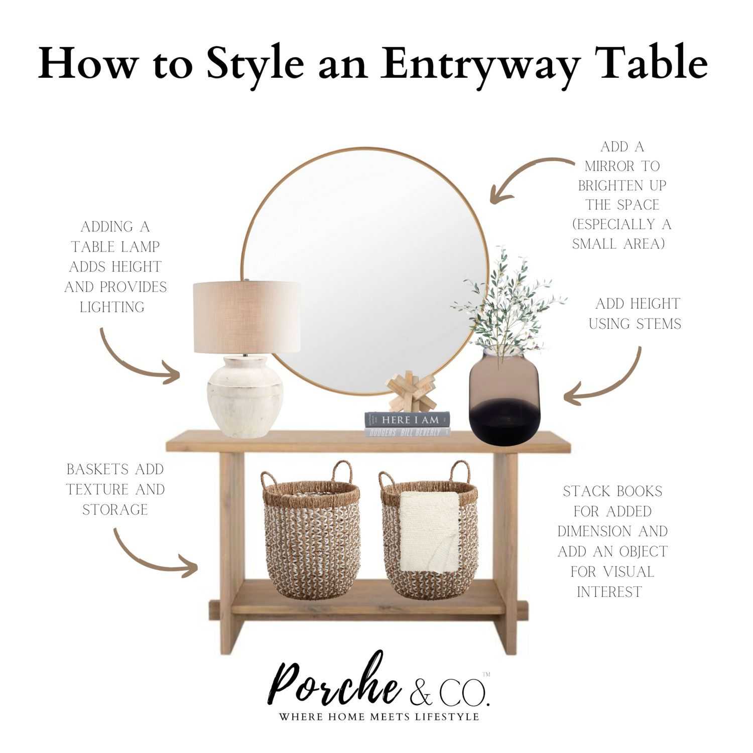 Photo of Porche Tips & Tricks: How to Style an Entryway Console Table — Porche & Co.