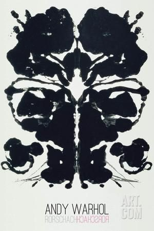 andy warhol rorschach paintings