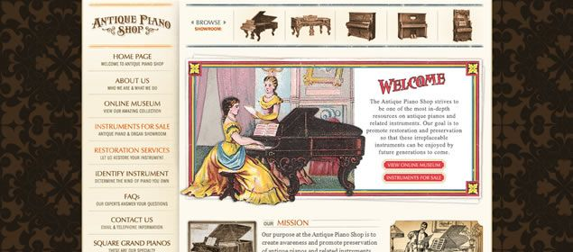 50 Creative Examples Of Vintage And Retro In Web Design Vintage Web Design Fun Website Design Vintage Websites