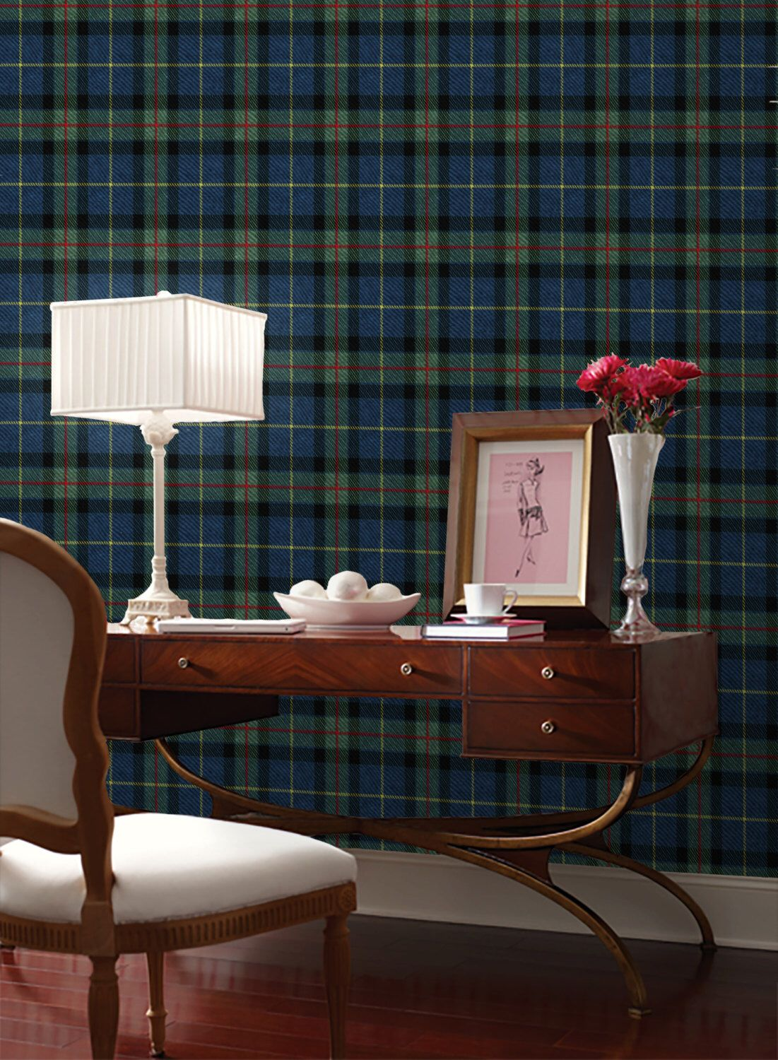 Tartan Easy To Apply Removable Peel U0027n Stick Wallpaper By Wallpaperie On  Etsy Https: