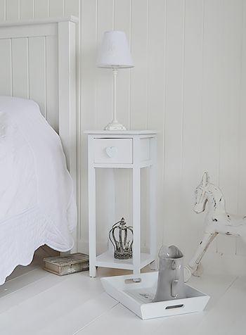 White shabby chic bedroom furniture.Heart Cottage white ...
