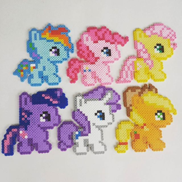 My Little Pony Perler Beads By Burritoprincess Perler Beads