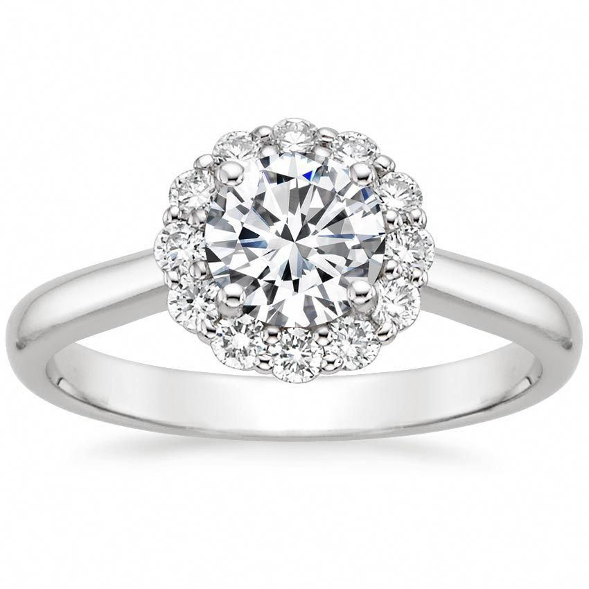 18k white gold lotus flower diamond ring 14 ct tw