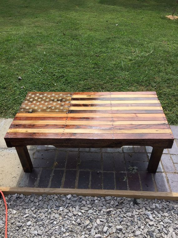 American Flag Coffee Table By Walkingefurniture On Etsy Homemade