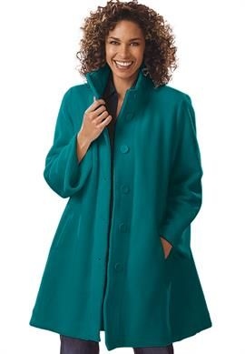 be62f772c Jacket, swing style, in cozy fleece | Plus Size Coats & Jackets |  OneStopPlus