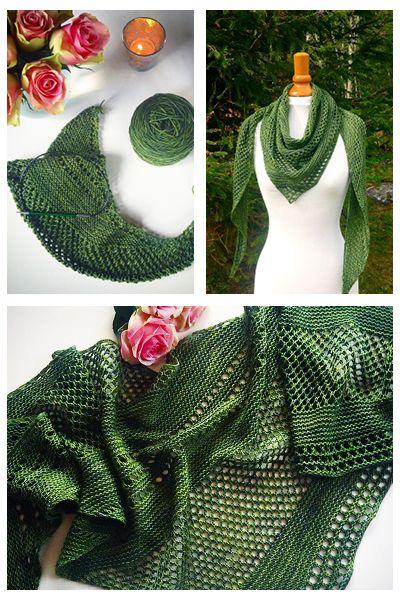 Ravelry: Antarktis shawl with Malabrigo Yarn Sock - knitting pattern by Janina Kallio.