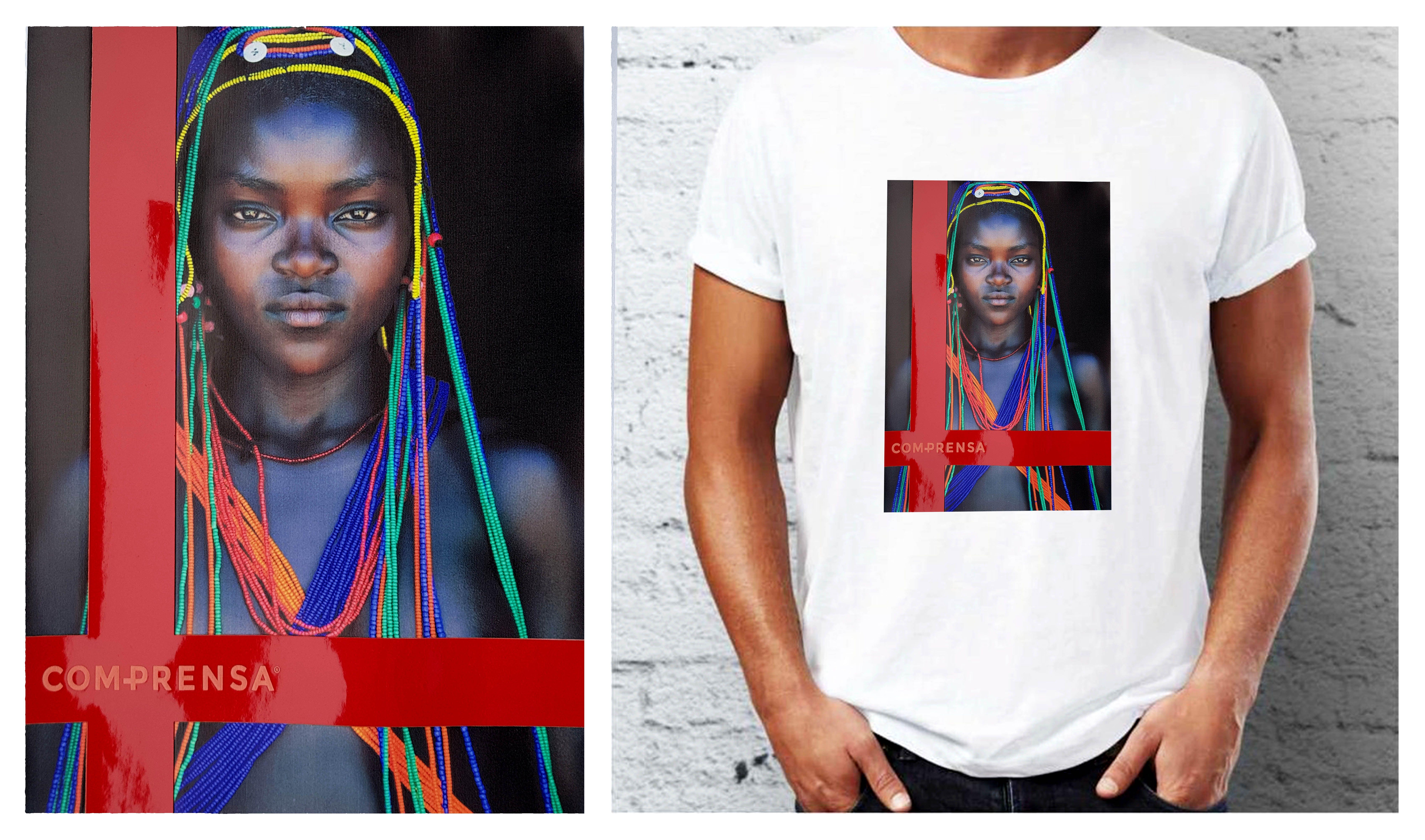 Our T-Shirt with Mumuhuila Woman  #comprensa #Tshirt #tribo #woman #mumuhuila #africa #tribal #photo #tranfer #color
