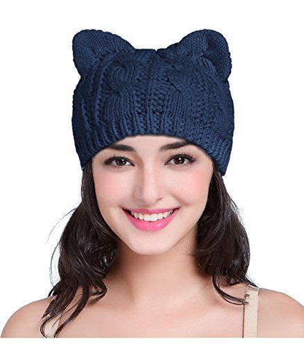 db7e56d84bd Beautiful v28 Women Men Girls Boys Teens Cute Cat Ear Knit Cable Rib Hat  Cap Beanie.   6.50 - 11.99  nanaclothing from top store