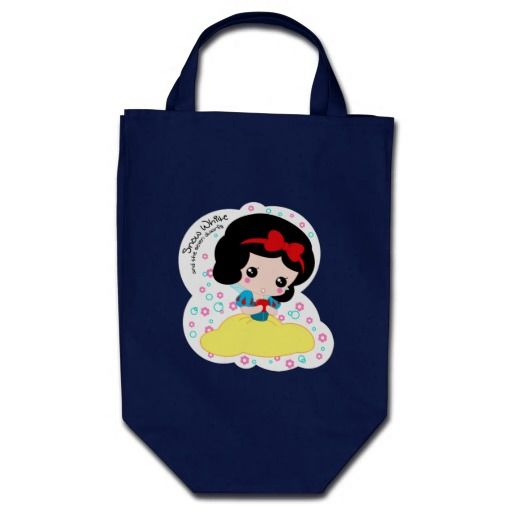 cute chibi snow white with apple bag