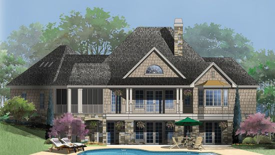 Hillside Walkout Archives House Plans Blog Country Style House Plans Craftsman Style House Plans Basement House Plans