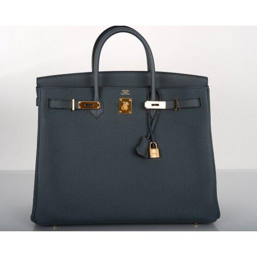3f584866bc HERMÈS  Hermès Blue Orage Togo 40cm Birkin Bag Gold Hardware. Amazing  color!  porteromostwanted