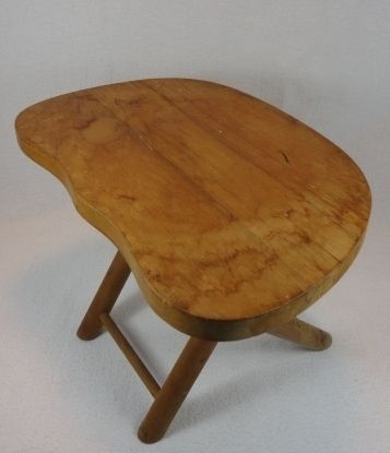 Vtg Primitive Nevco Folding Wooden Step Stool Footstool