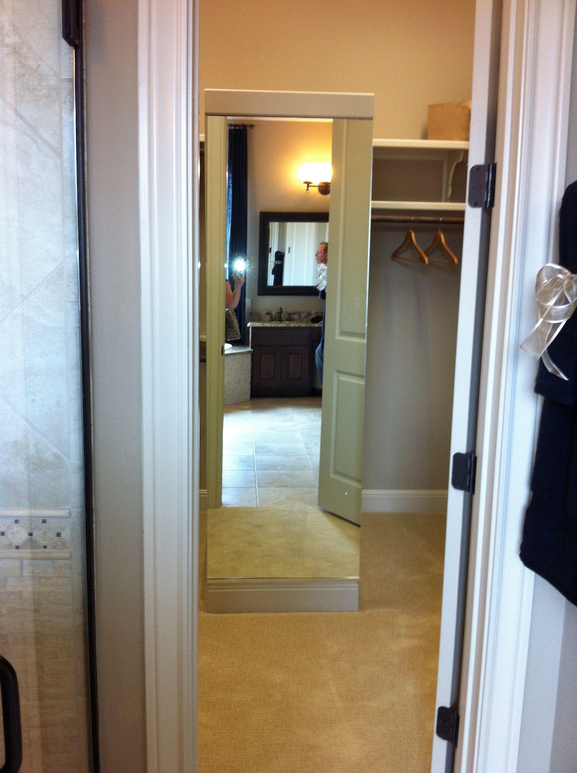 full length mirror in closet Master closet, French door