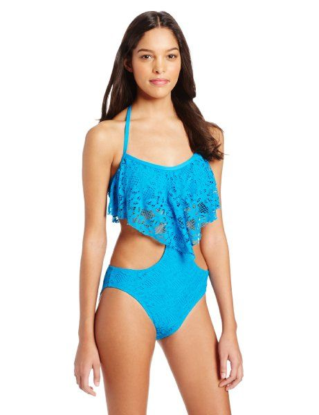 d9302cc8e4b022 Kenneth Cole Reaction Women's Island Fever Crop Top Halter Monokini ...