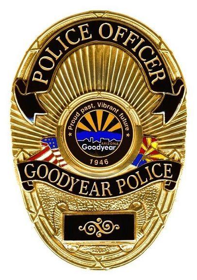 Goodyear Pd Az Police Badge Police Fire Badge