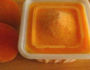 Glace à labricot sans sorbetière