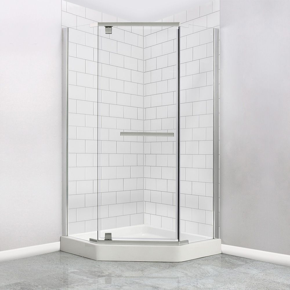 38 X 38 Neo Angle Shower Kit With Base And Door Neo Angle