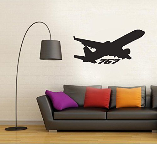 Boeing  Airplane Jet Silhouette Vinyl Wall Decal Sticker - Vinyl wall decals application instructions