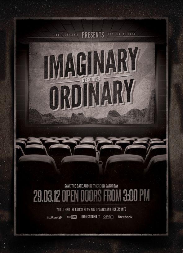 Portfolio Indieground Vintage Cinema Flyer Cinema Design Web Graphic Design