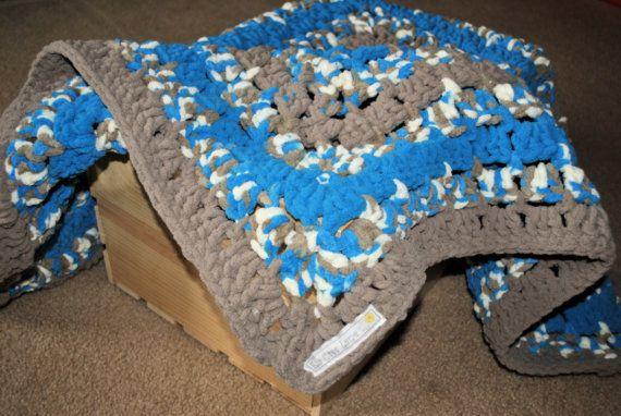 Boy Baby Blanket in Bernat Baby Blanket Yarn by EllaCreeLane, $30.00 ...