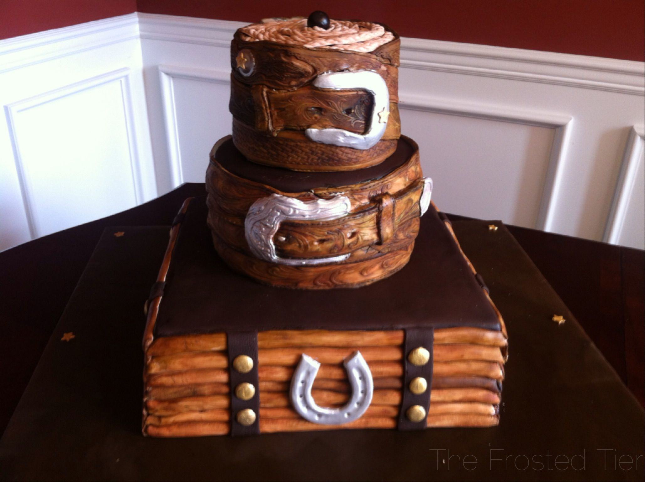 Western Belt Buckle Cake By The Frosted Tier In Nashville