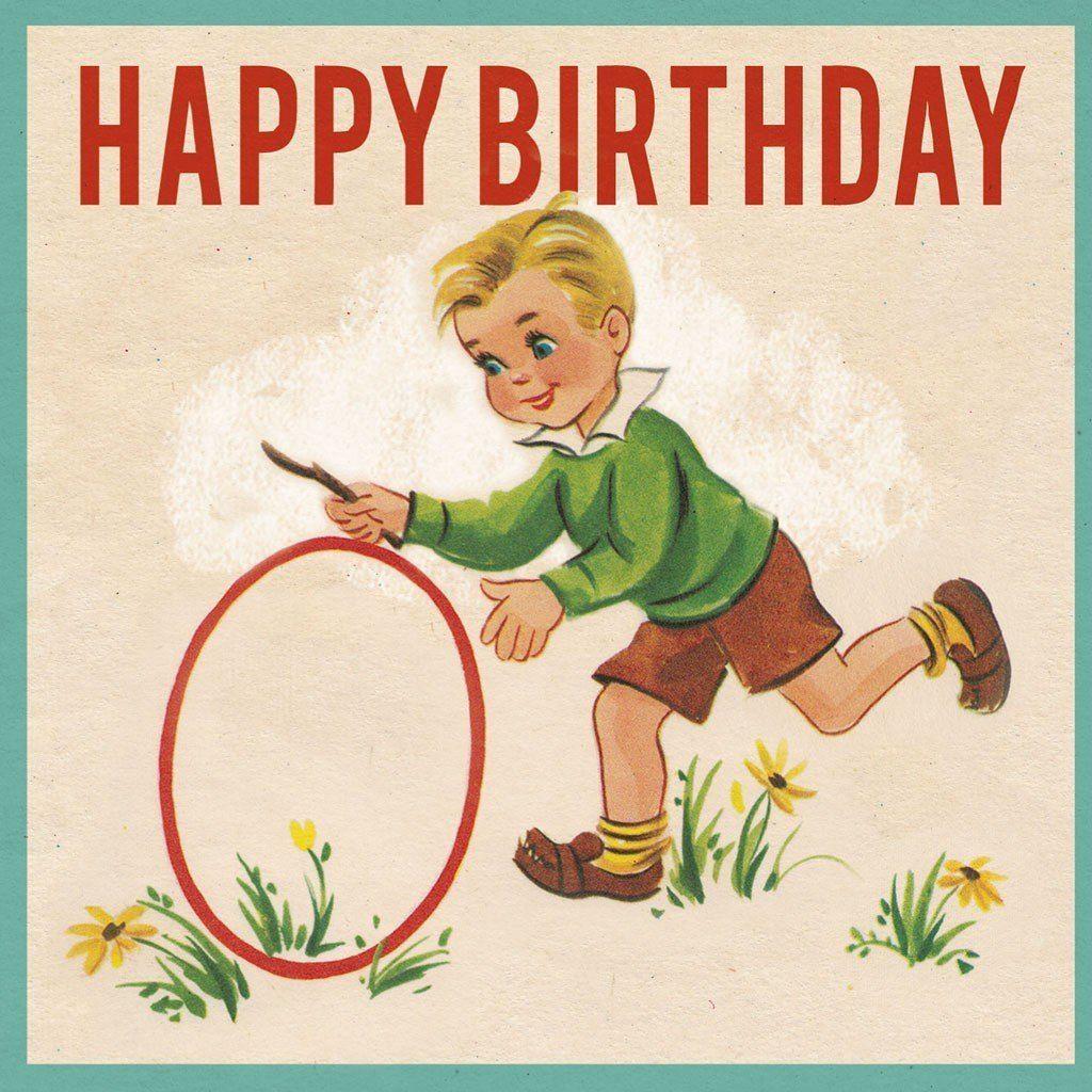 Vintage Geburtstagskarte Für Jungen
