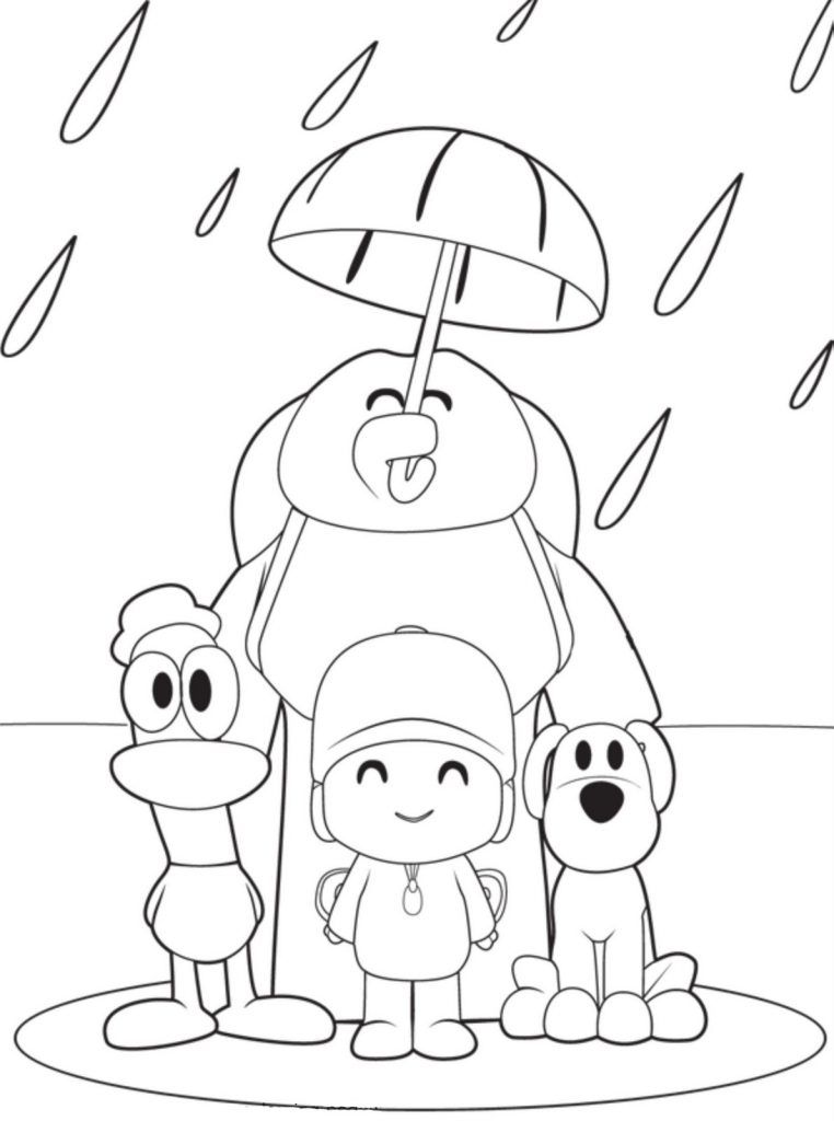 pocoyo páginas para colorear  cartoon coloring pages