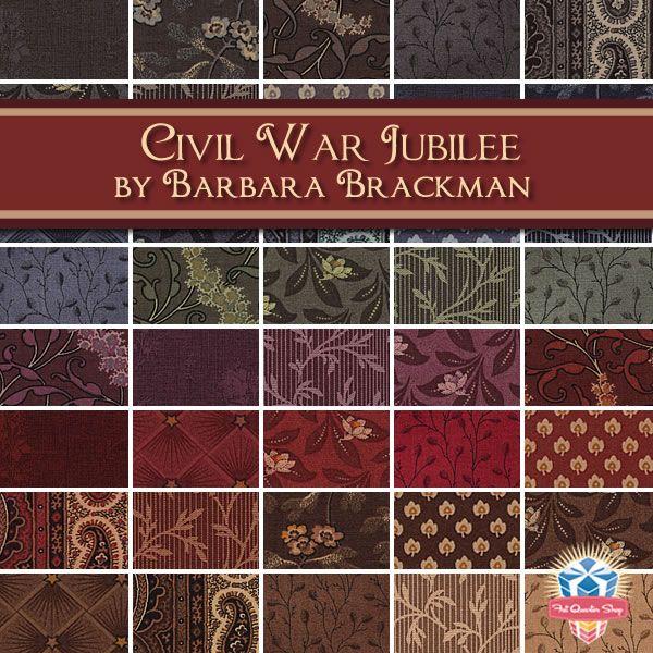Civil War Jubilee By Barbara Brackman For Moda Fabrics