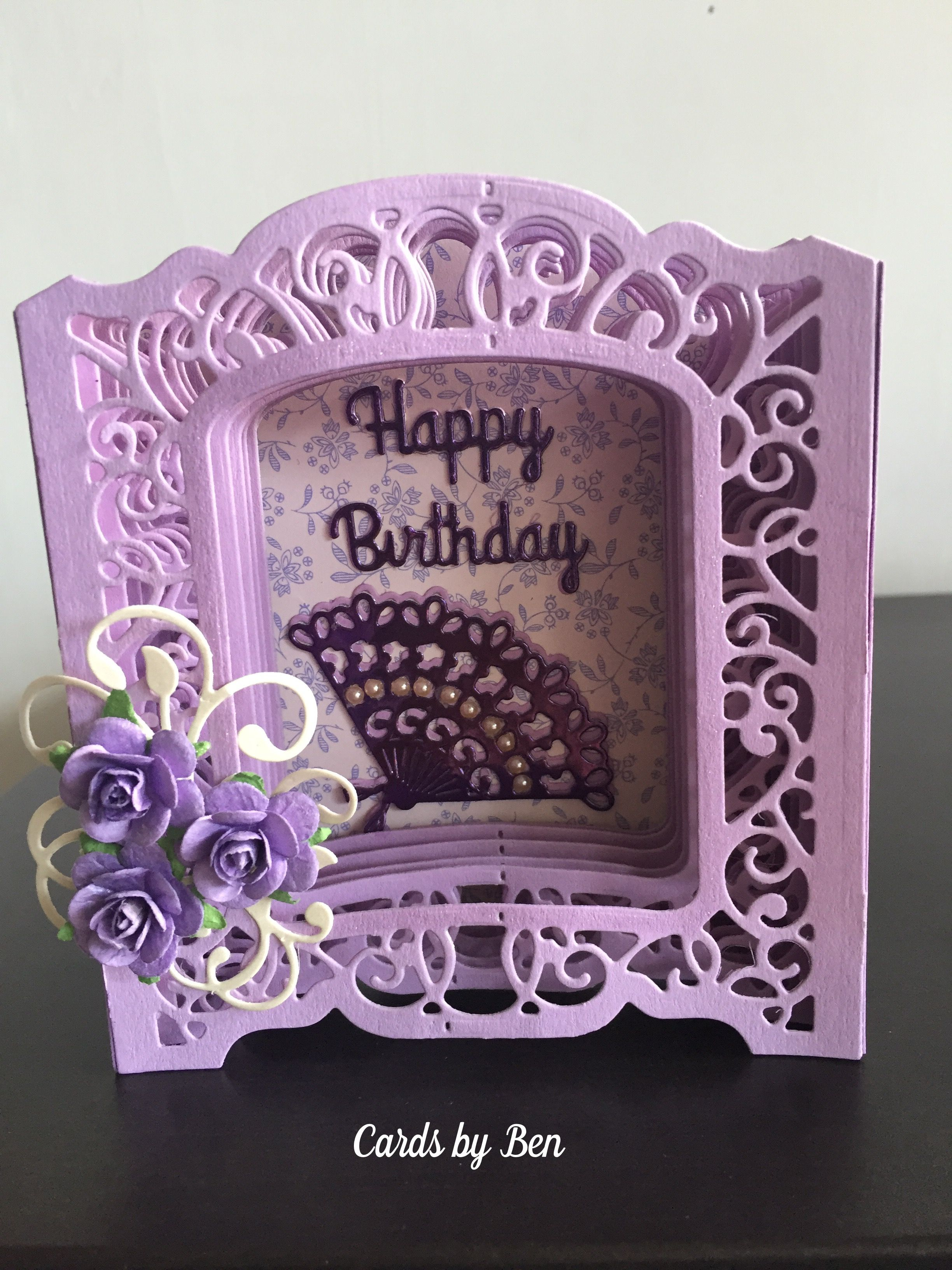 Vignette Birthday Box Spellbinders Cards Creative Cards 3d Birthday Card