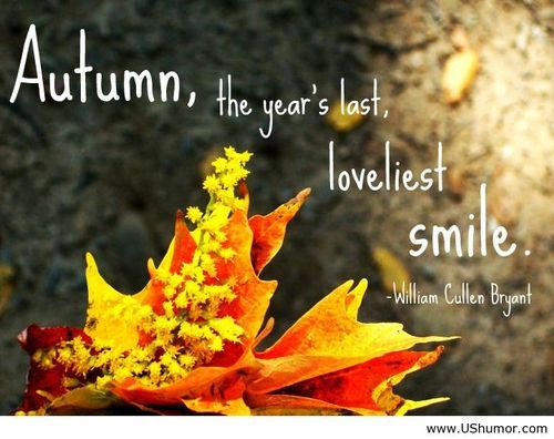 The last smile - Autumn quotes US Humor - Funny pictures, Quotes, Pics, Photos, Images